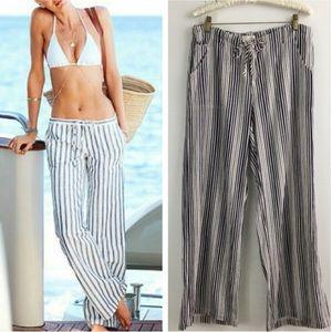 Just living   Linen Blend Beach Pants